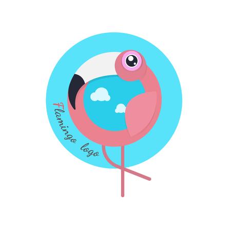 Flamingo bird. vector illustration on white background. cartoon