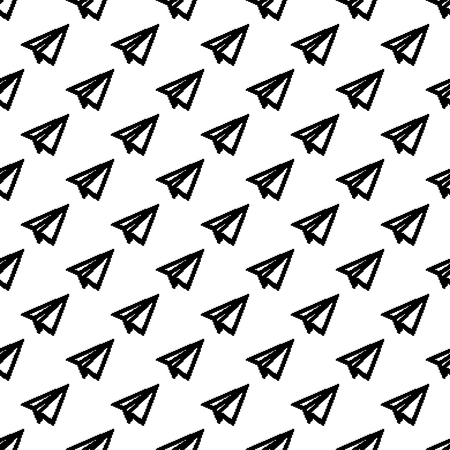 glider paper Pattern Abstract Geometric wallpaper. Vector illustration. background. black. on white background Banque d'images - 97613973