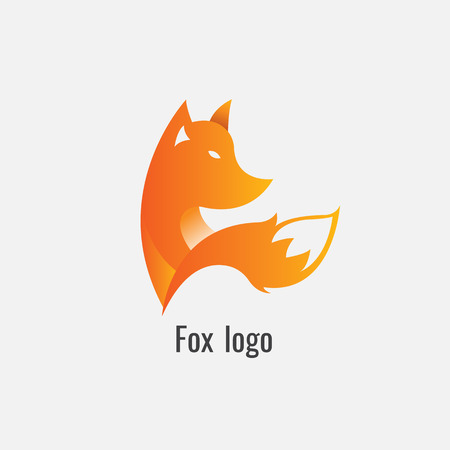fox Orange logo modern on white background Vector illustration. Illustration