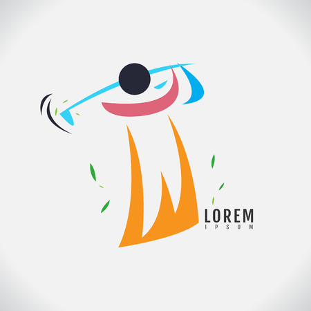 Vector image of an Golf design on white background.