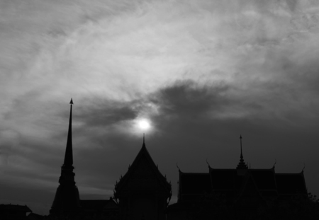 Pagoda in Wat temple in thailand