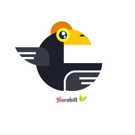 Vector of toucan Hornbill bird design on white background. vector illustration. image