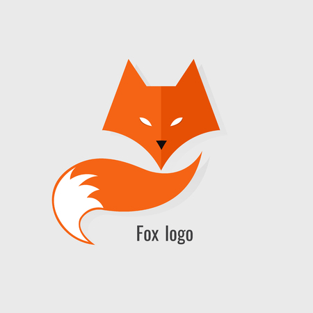 Fox Orange logo. modern on white background Vettoriali