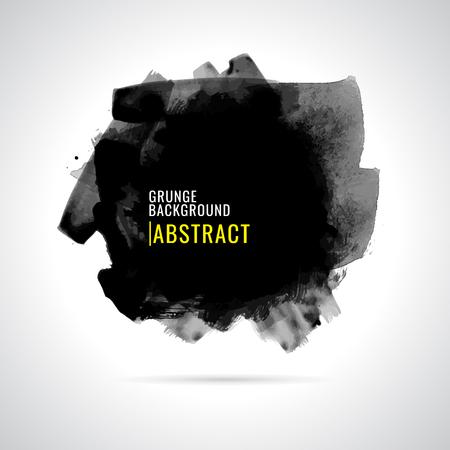 Grunge background. Watercolor background. Abstract background. Hand drawn. Texture background. Abstract shape on white background. Paint black  イラスト・ベクター素材