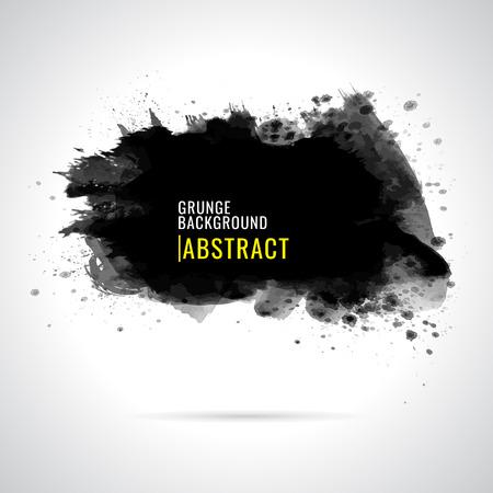 Grunge background. Watercolor background. Abstract background. Hand drawn. Texture background. Abstract shape on white background. Paint black 矢量图像