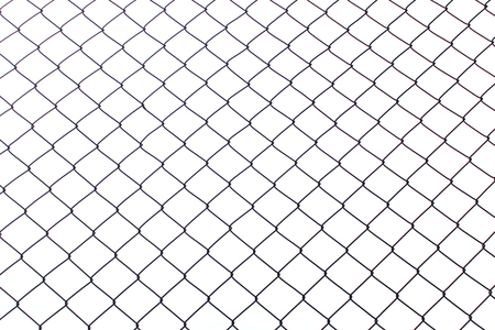 Metal net isolated on white background. photo. object