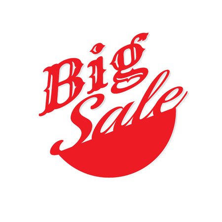 Big Sale off discount text. vector. on white background. banner. marketing. Business 向量圖像