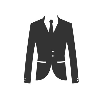 suit black icon. vector. Illustrator.on white background. symbol. wedding