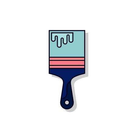 paint brush icon illustration isolated vector sign symbol on white background Çizim