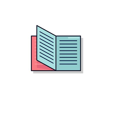 open book icon illustration isolated vector sign symbol on white background