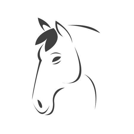 Vector head of horse black. Mammals. logo. icon. symbol. design. on white background