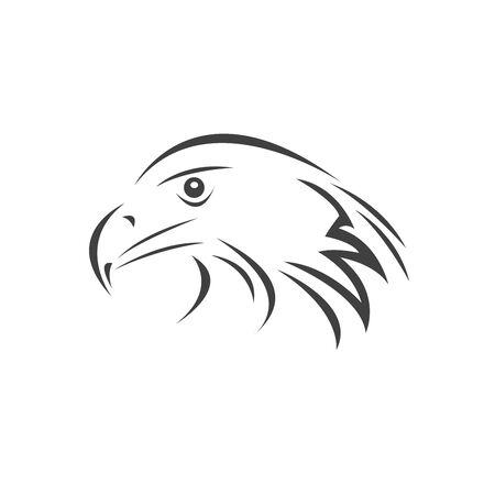 Vector Head of an Eagle. Black. Logo. Mascot. illustration. on white background