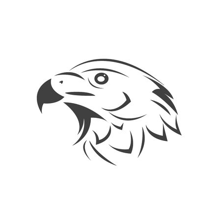 Vector Head of an Eagle. Black. Logo. Mascot. illustration. on white background