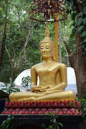 hunker: Buddha statue in sitting position