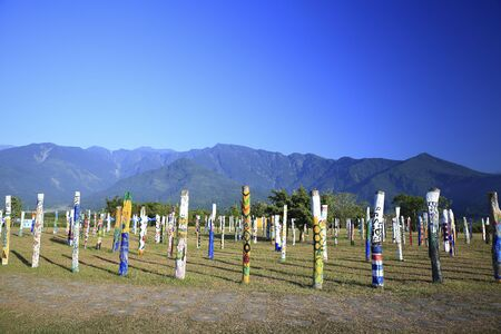 woodland sculpture: Woodlands,Forest Service Plains Forest Park,Guangfu Township,Hualien County,Taiwan LANG_EVOIMAGES