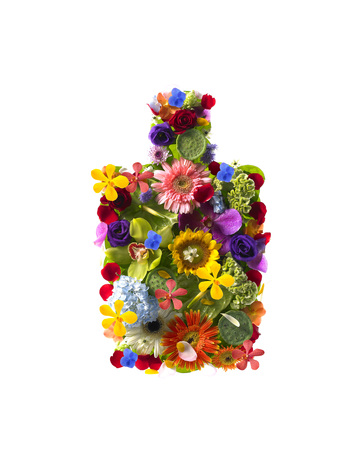 colored bottle: Sign of Flower