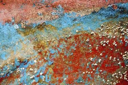 Colorful background,remains of boat