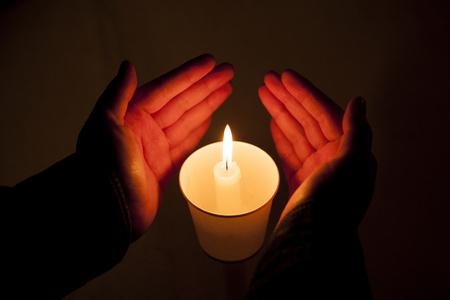 Photograph candle concept