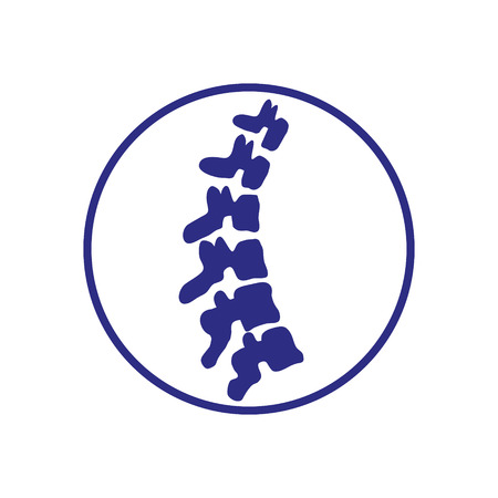 Vector template. Human spine. Isolated. Spine medical center, clinic element. Flat modern silhouette illustration.