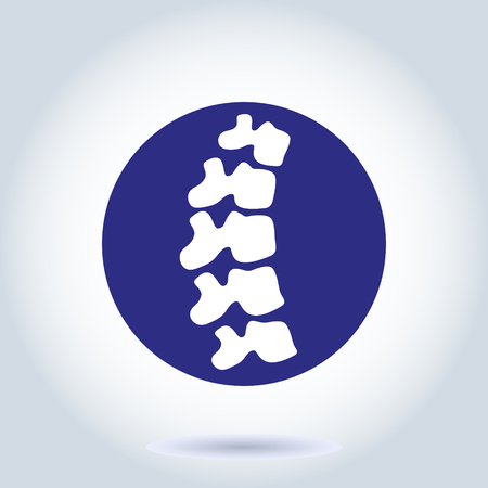 Vector human spine isolated silhouette illustration. Spine pain medical center, clinic, institute, rehabilitation, diagnostic, surgery element. Spinal icon symbol design. Concept of scoliosis Vectores