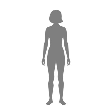 Vector isolated illustration of woman silhouette. Isolated black illustration Standard-Bild - 131841515