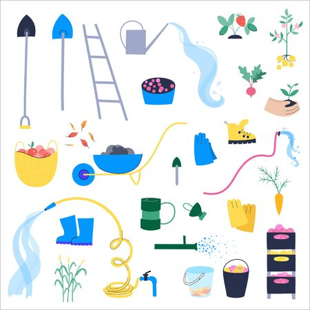 Garden work concept vector Standard-Bild