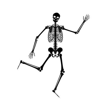 Happy dancing skeletons on Halloween