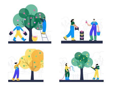 Garden work concept vector Illustration