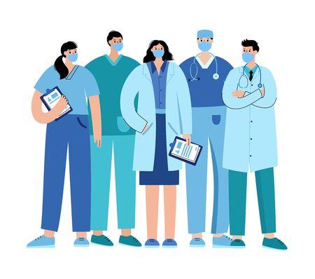 Concept de clinique et de médecin