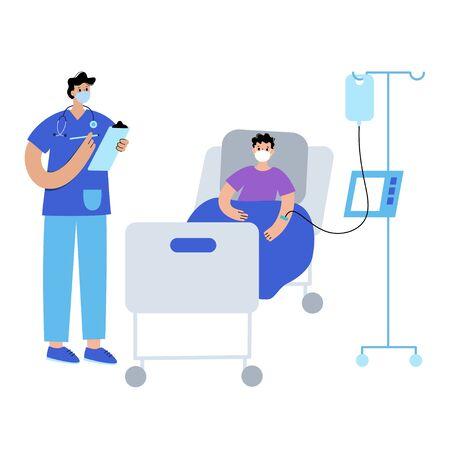 Clinic and doctor concept Ilustración de vector