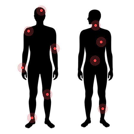 Pain in human body Vektorové ilustrace