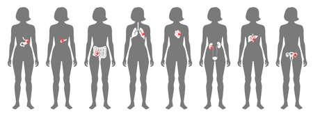 Pain in human body Vector Illustration