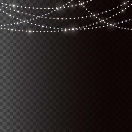 Christmas lights concept Vector Illustratie