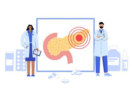 Pancreas logo concept Ilustração