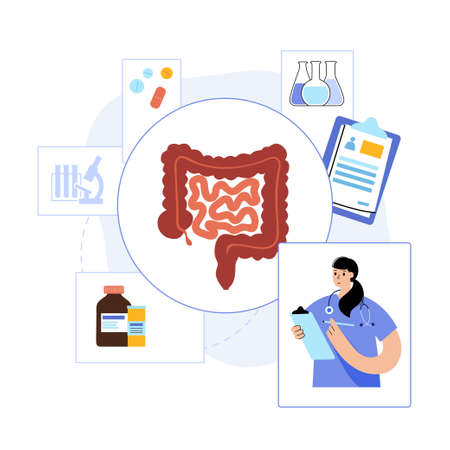 intestine logo concept