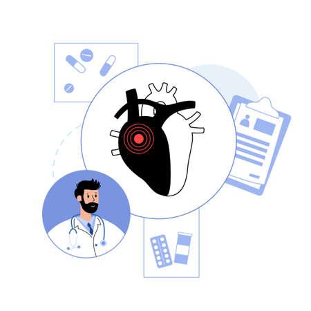 Cardiology template concept Ilustração