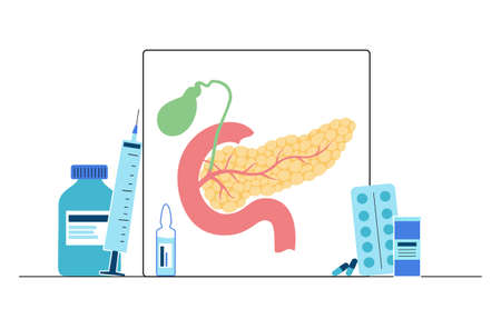 Pancreas   concept Ilustração
