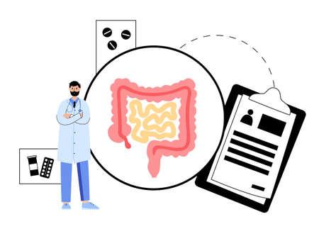 intestine  concept Ilustração