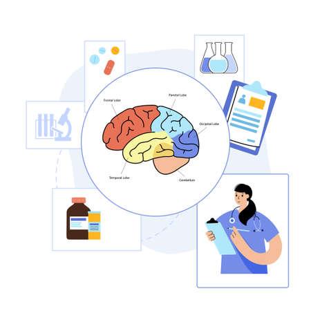 Brain and neurology Ilustração