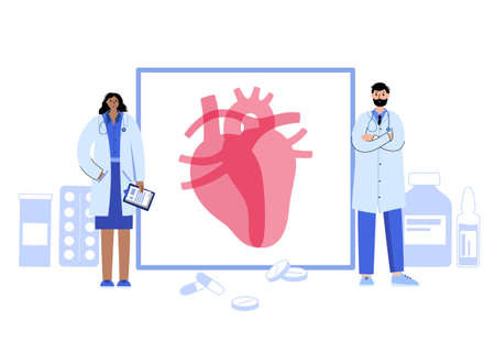 Cardiology template concept Vettoriali