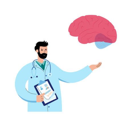 Brain and neurology Vettoriali
