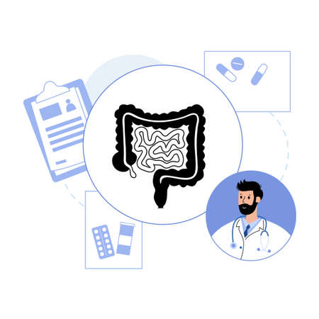 intestine  concept Vettoriali