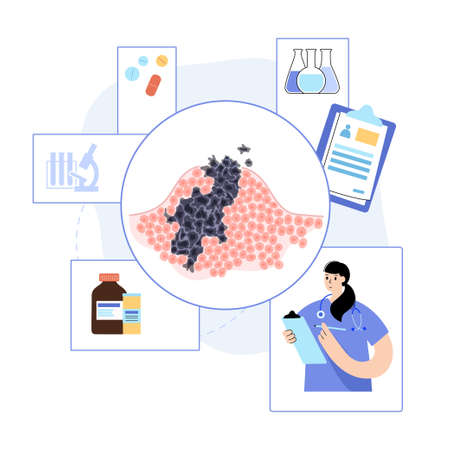 Tumor cells concept