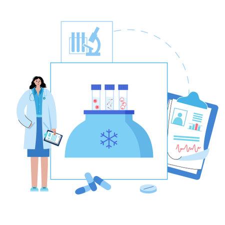 IVF freezing concept Ilustracje wektorowe