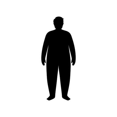 Obese man concept