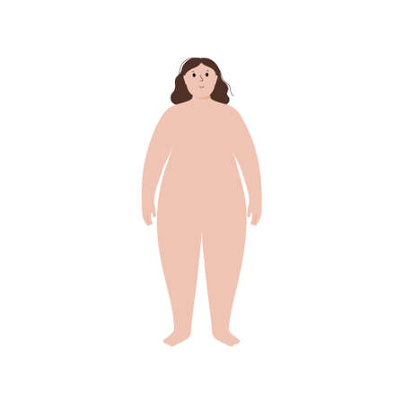 Obese woman concept