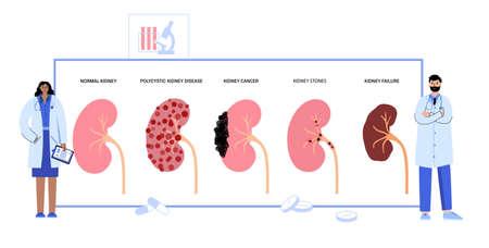 Kidney disease concept Vecteurs