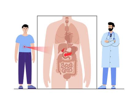 Pain in male body Vektorgrafik
