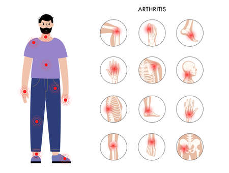 Arthritis in man silhouette