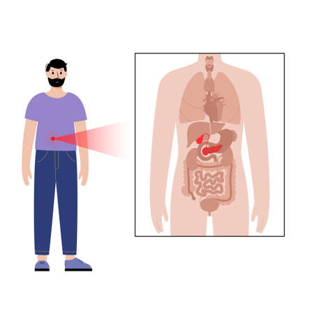 Pain in male body